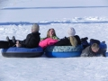Snow sledding in Grand Lake Colorado