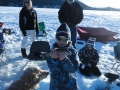 Ice fishing in Grand Lake Colorado