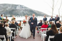 Shea & AJ said their vows overlooking Grand Lake, Colorado's largest natural lake near Rocky Mountain National Park, in February