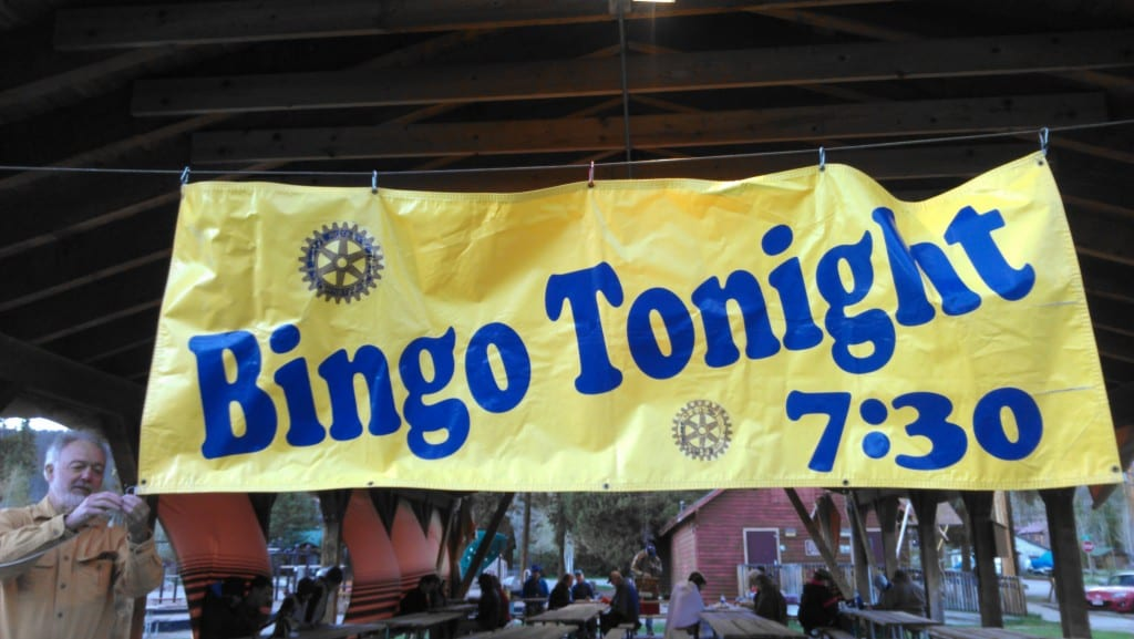 Rotary Club of Grand Lake, Colorado Bingo