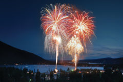 Fireworks over Grand Lake