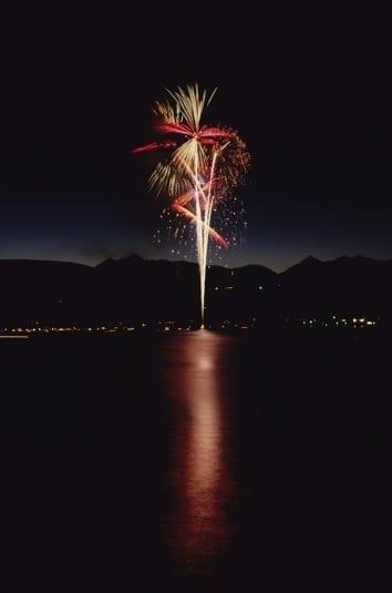 Fireworks on Grand Lake