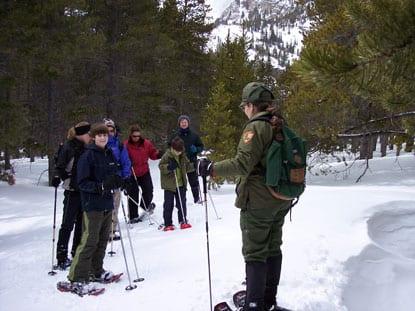 Ranger Led Snowshoe Program Rocky Mountain National Park