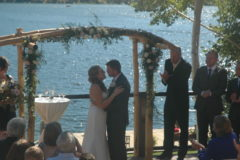 Wedding at Western Riviera Lakeside Venue overlooking Grand Lake