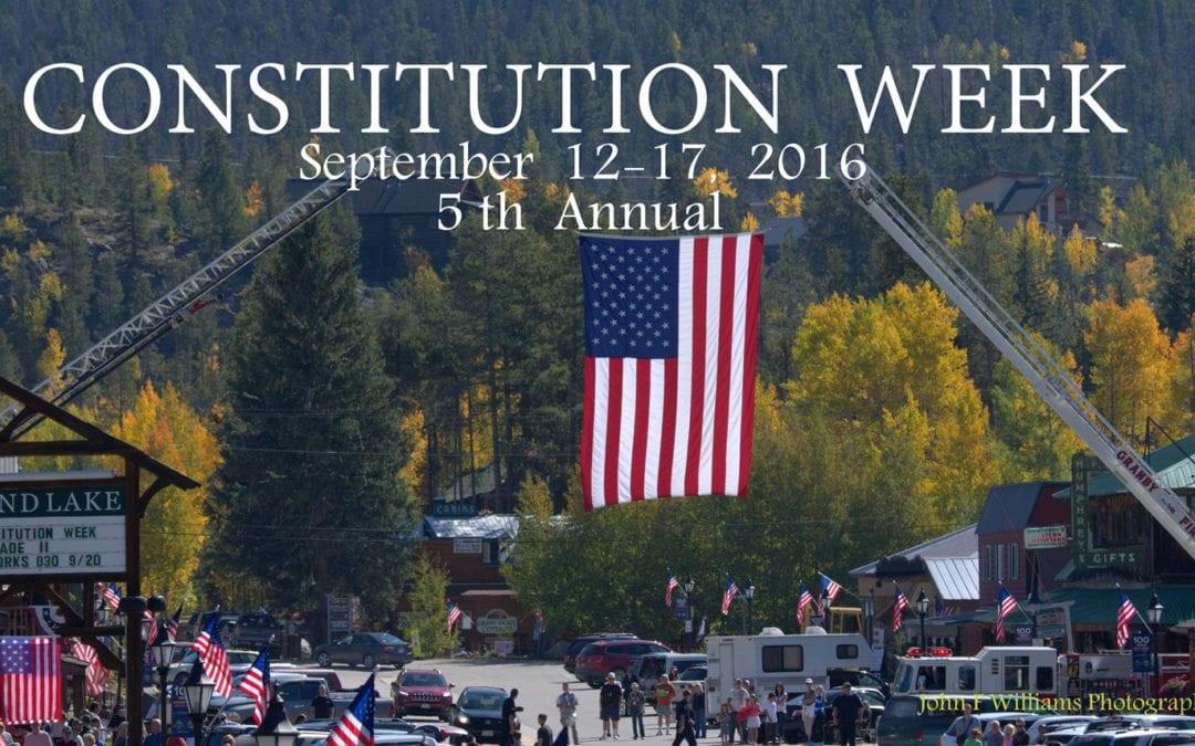 Bugling Elk, Colorful Leaves & Constitution Week Celebration