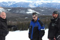 Anthony and Joel visit Gravel Mountain after a snowmobile trip with tour guide, Snowmobile Steve.